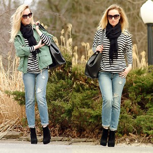 Ann-Robie-Fashion-Forever-21-coat-jeans-ankle-boots-stripes
