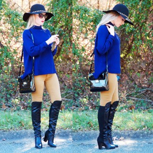 Ann-Robie-Fashion-Blue-Sweater-Over-the-knee-boots